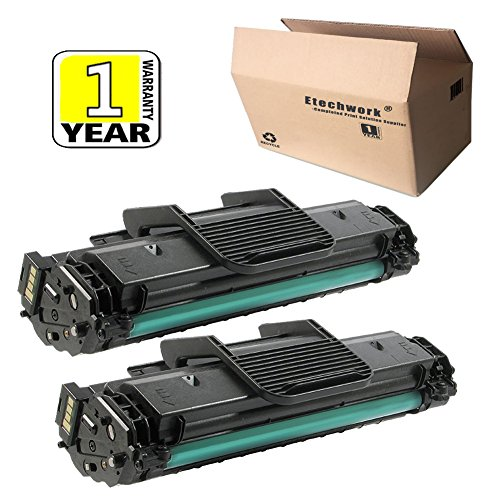 - Etechwork MLT-D108S Toner Cartridge 2 Pack Black Compatible for Samsung ML-1640 ML-1641 ML-2240 Printer