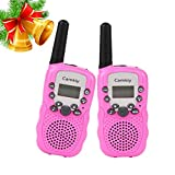 Camkiy 22 Channel Twin Walkie Talkies Walky Talky 2 Way Radio 3KM Range Interphone Kids Toy (Pack of 2, Pink) ­