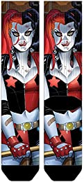 Best Sale Harley Quinn Pose Premium Sublimated Crew Socks Dc Comics