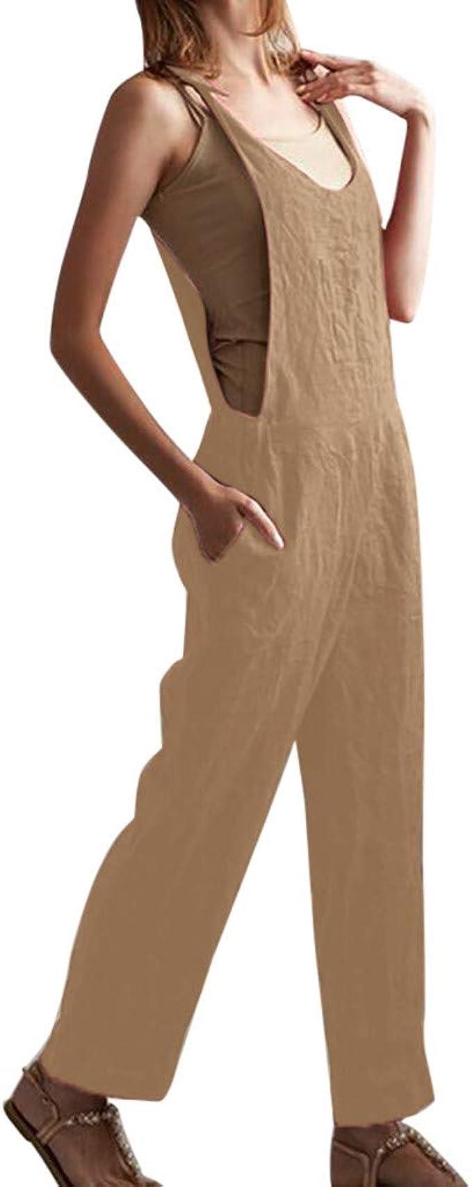 Mono para Mujer Fiesta Pantalones, SUNNSEAN Mujer Monos Jumpsuits ...