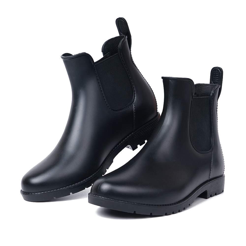 SUGEER Men Rain Boots Waterproof Rubber Washing Work Boots Anti-Slip PVC Adult Outdoor Work Rubber Boots