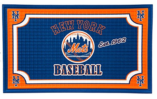 Team Sports America New York Mets Embossed Floor Mat, 18 x 30 inches (Mets Floor New York)