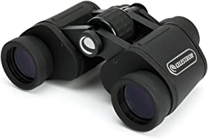 Celestron – UpClose G2 7x35 Porro Binoculars with Multi-Coated BK-7 Prism Glass – Water-Resistant Binoculars with Rubber Armored and Non-Slip Ergonomic Body for Sporting Events