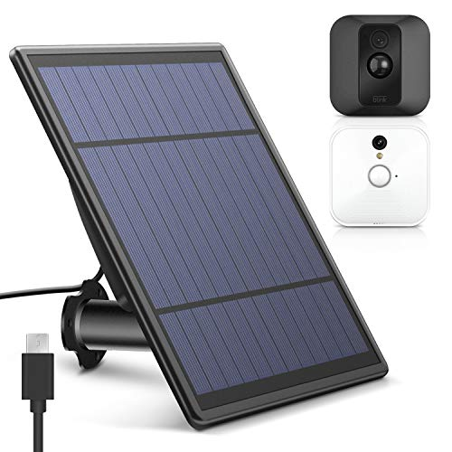 MYRIANN Solar Panel for Blink XT XT 2 Security Camera, Wall Mount Outdoor Weather Proof Solar Power Charging Panel for Blink XT XT 2 Home Security Camera System ()