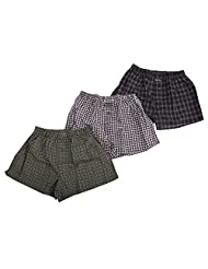 Mens Classic Cotton Rich Woven Boxer Shorts (Pack Of 3)