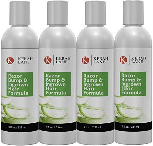 Kerah Lane Razor Bump & Ingrown Hair Formula 8 Oz for Women & Men (4 Pack Bundle): Best for Ingrown Hairs, Acne, Razor Bumps, Razor Burn: Use After Shaving, Waxing, Electrolysis & Hair Removal For Sale