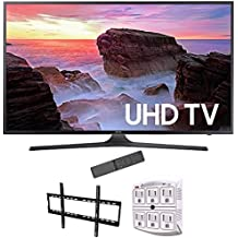 Samsung 74.5-Inch 4K Ultra HD Smart LED TV 2017 Model (UN75MU6300) with Stanley 6-Outlet Surge Adapter with Night Light & Vivitar Low Profile Flat TV Wall Mount 50inch-80 inch