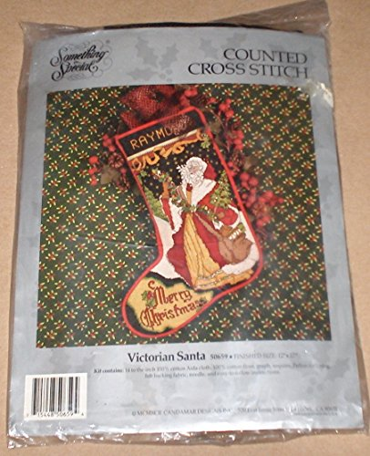Something Special Victorian Santa Cross Stitch Christmas Stocking Kit 50659