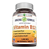 Amazing Nutrition Vitamin B12 Dietary Supplement – 1000 mcg, 100 Tablets – Supports Nervous System, Circulatory Health & Energy Metabolism* Review