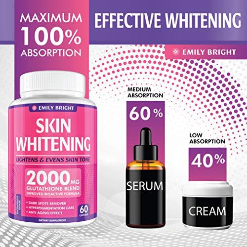 Glutathione Whitening Pills - 2000mg Glutathione - Better than Skin Lightening Cream - Dark Spots & Acne Scar Remover… 6