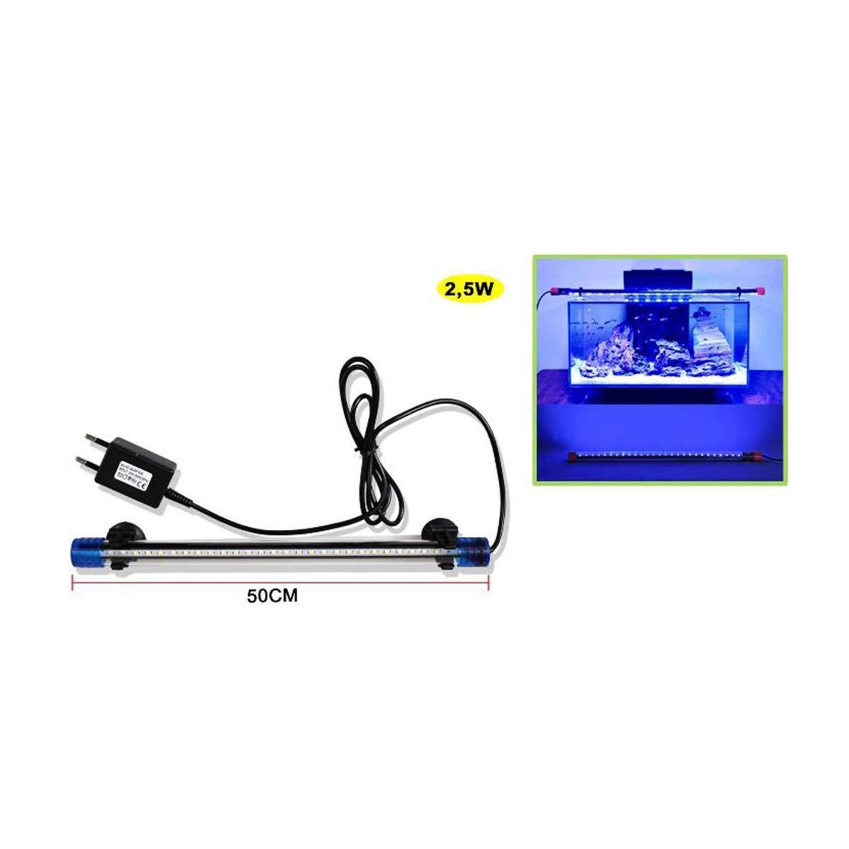 Cisne 2013, S.L. Lampara para Acuario LED 50cm pecera Sumergible. Tira de luz LED Medida 50cm 2W de Potencia.: Amazon.es: Hogar
