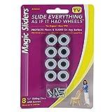 Round Furniture Sliders w/Screw 3/4'' - Pack of 8