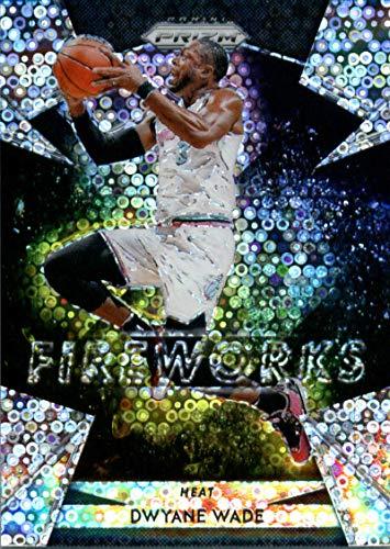 (2018-19 Panini Prizm Fireworks Prizms Fast Break #8 Dwyane Wade Miami Heat Basketball Card)
