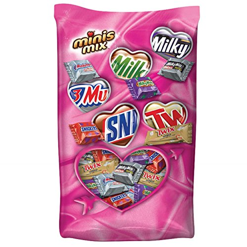 MARS Chocolate Valentine's Minis Size Candy Variety Mix 24.89-Ounce Bag
