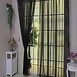 YanHoo 1 PCS Pure Color Tulle Door Window Curtain Drape Panel Sheer Scarf Valances (D)