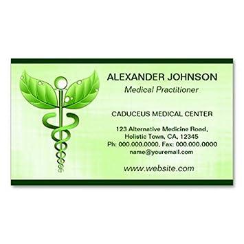 Cartes De Visite Medecine Douce Caducee Carte Standard