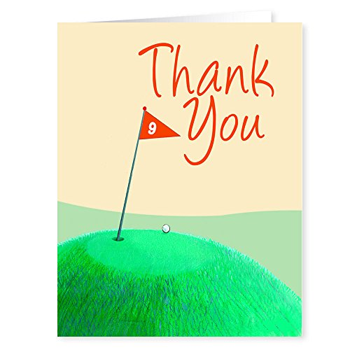 Simple Thank You Golf Tee Note Card - 18 Boxed Cards & Envelopes by Stonehouse Collection