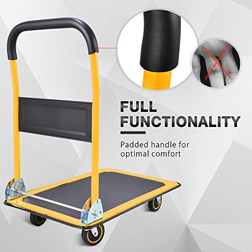 2eef9511ff75 Push Cart Dolly by Wellmax | Functional Moving Platform + Hand ...