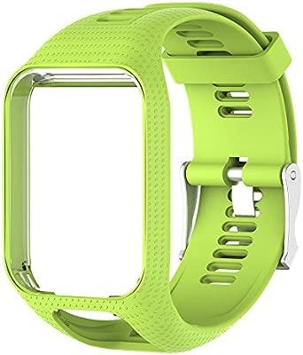molre-yan Correa de Reloj Silicona de Repuesto para Reloj Strap de Recambio/Reemplazo Deportivos o Smartwatch Tomtom Series 3/Series 2 (25cm)