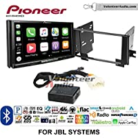 Volunteer Audio Pioneer AVH-W4400NEX Double Din Radio Install Kit with Wireless Apple CarPlay, Android Auto, Bluetooth Fits 2003-2009 Toyota 4Runner with Amplified System