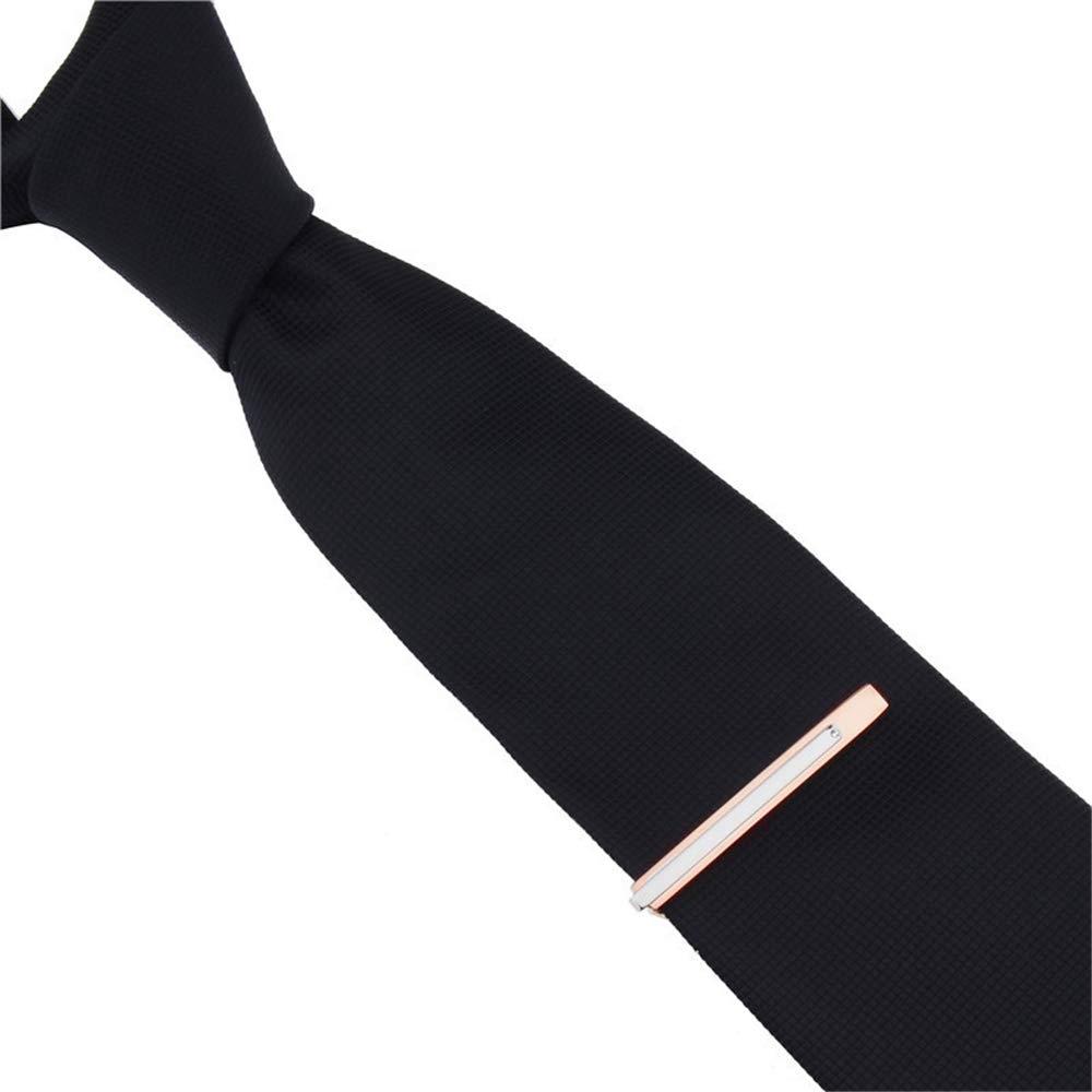 QSRMWNN Rose Gold Tie Clip Hombres Joyería 0.2 Ancho Barra de ...