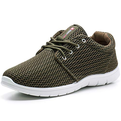 alpine swiss Men's Kilian Kilian Fashion Sneakers, Green, 5