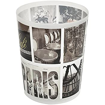 Home basics paris collection bathroom accessories office bedroom decorative waste for Bedroom waste baskets decorative