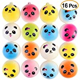 "KUUQA 16 Pcs 1.57"" Mini Panda Bread Bun Squishies Slow Rising Kawaii Squishy Toy Charms Mini Stress Balls Cellphone Straps Party Favors (Random Color)"