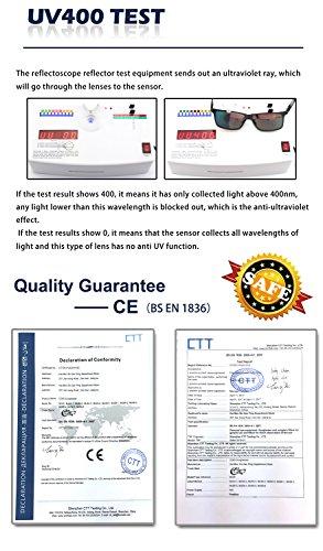 sol vintage unisex Polarizados Gafas B de retro Azul nerd CGID Arma Cristales Espejados MJ24 q0AxAtf