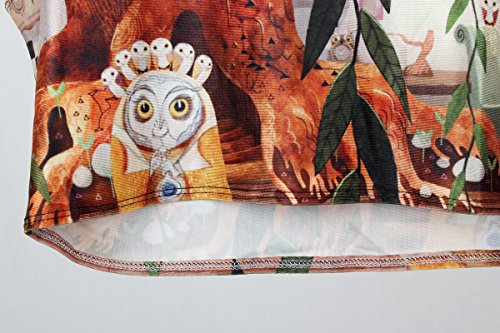 Thenice - Camiseta sin mangas - Animal Print - para mujer Animation roots