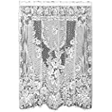 Heritage Lace Victorian Rose 60-Inch Wide by 84-Inch Drop Panel, White