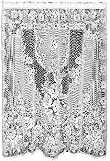 product image for Heritage Lace Victorian Rose 60-Inch Wide by 84-Inch Drop Panel, White