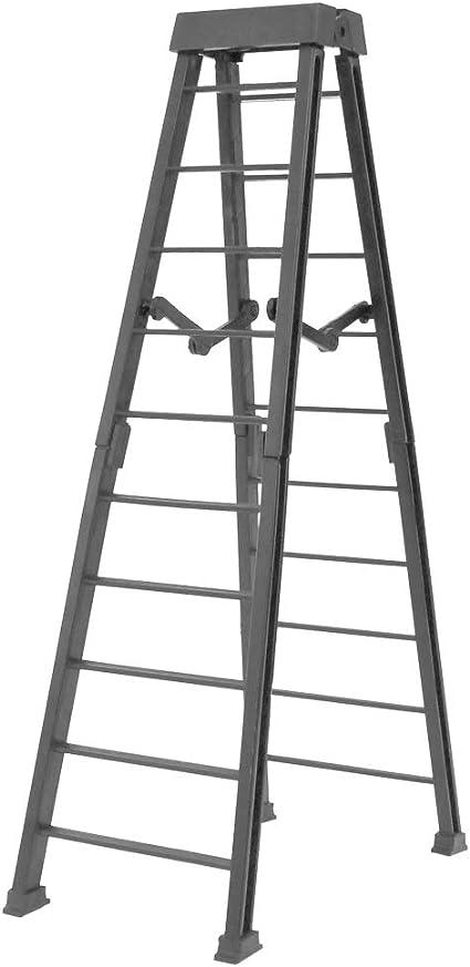 "Escalera De Plata 6/"" Mesa 2 sillas de Plata Negro-Lucha Figura Accesorios WWE"