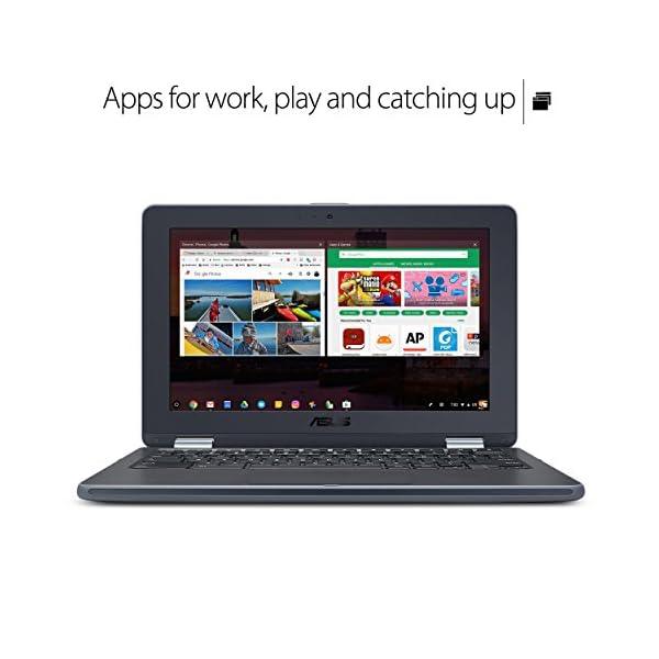 ASUS Chromebook Flip C213SA-YS02 11.6 inch Ruggedized & Spill Proof, Touchscreen, Intel Dual-Core Apollo Lake N3350… 2
