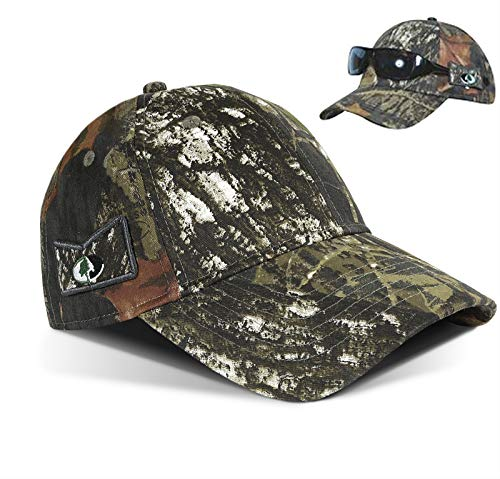 Tirrinia Men's Break UP Camo Hunting Cap with Non-Slip Side Sunglasses Holder