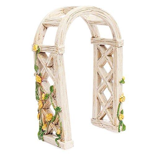 - Miniature Fairy Garden ENGLISH ROSE ARBOR (NEW) - My Mini Garden Dollhouse Accessories for Outdoor or House Decor