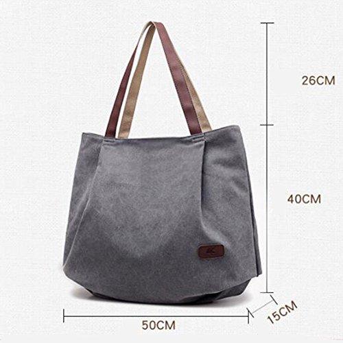 Bag body New Hand Ladies Bags Blue Spring Brown Canvas Elegant Capacity Cross 2018 Bag Bag Great Bag Large Woman Nclon Tote qgxpYp
