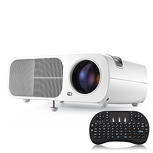 Wifi android 4 4 home theater projector led lcd wireless for Best wireless mini projector