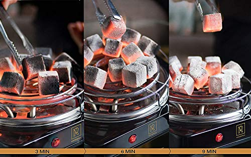 New! Hookah Coals Hookah Value Pack – 84 Count & 1.2 KG (2.6 lbs) – Premium Quality 25mm (1x1x1 in) Hookah Charcoal Cubes – 100% Natural Coconut Charcoal Hookah Coal – NOT Quick Light