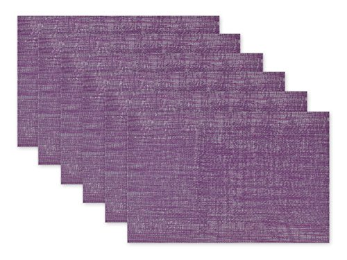 Springtime Setting (DII Everday, Easy to Clean Indoor/Outdoor Woven Vinyl Space Dyed Placemat, 13x18