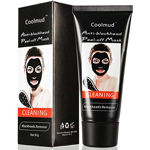 Coolmud Peel Off Face Mask, Blackhead and Whitehead Remover - Deep Cleansing for Acne Scars, Blemishes, Anti Aging, Wrinkles, Organic Activated Charcoal