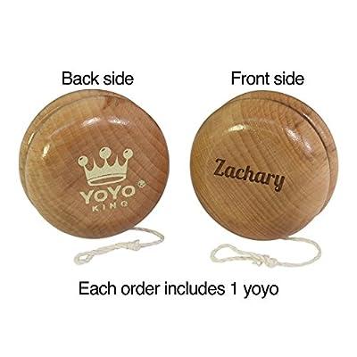 Yoyo King Custom Classic Natural Wooden Yo-yo: Toys & Games
