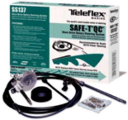 (New Boat Steering System Complete 18' Q/C Teleflex Safe-T Tel Ss13718 )