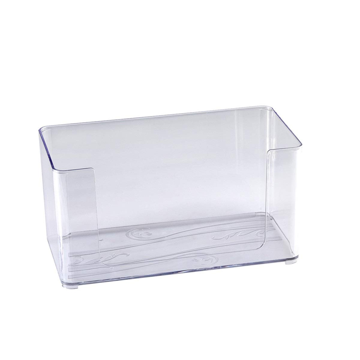JIUYAODIANZI AS Anti-Slip Multi-Function Storage Box, Household Items Storage Storage Box, Transparent Plastic Storage Box, Suitable for Kitchen, Bathroom, Living Room by JIUYAODIANZI