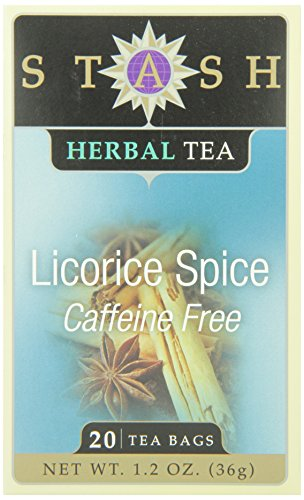 Stash Tea Licorice Spice Herbal Tea 20 Count Tea Bags in Foil (Pack of 6), Tea Bags Individually Wrapped in Foil (packaging may vary), Naturally Sweet Herbal Tisane, Zero Caffeine, (Herbal Sweet Licorice)