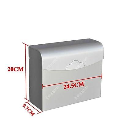Resistente Al Agua Papel Higiénico Toallas Caja,Espacio De Mano De Aluminio De La Bandeja