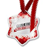 Christmas Ornament Worlds Best College Student, red - Neonblond