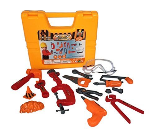Toy Power Tools Set Educational Pretend Play Toys for Boys & Girls Best for Toy Tool Bench With Sturdy Case