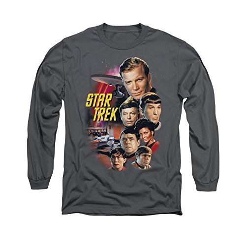 Star Trek Original TV Series The Classic Crew Adult Long Sleeve T-Shirt Tee