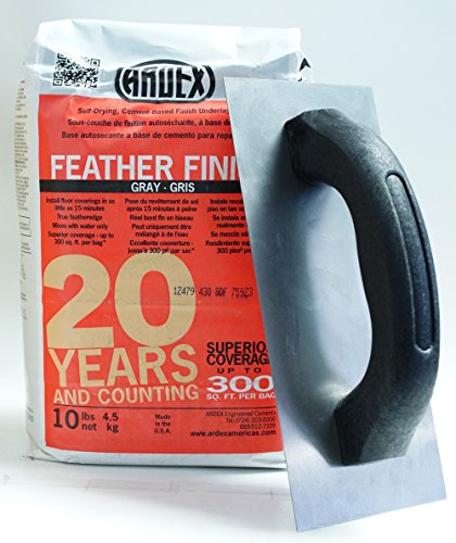 (Ardex Feather Finish 10 lbs Bag & Floor Patching Trowel)